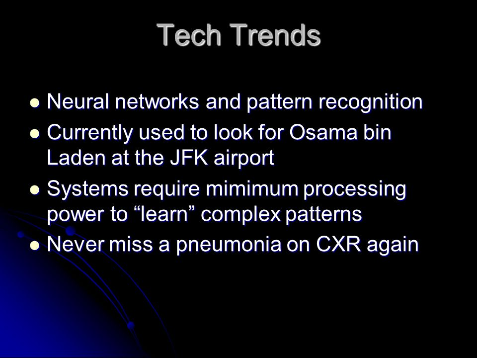 Tech Trends Neural networks and pattern recognition