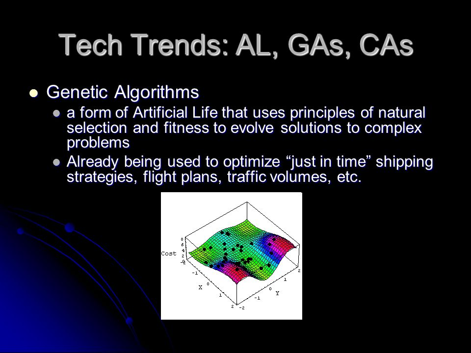 Tech Trends: AL, GAs, CAs Genetic Algorithms