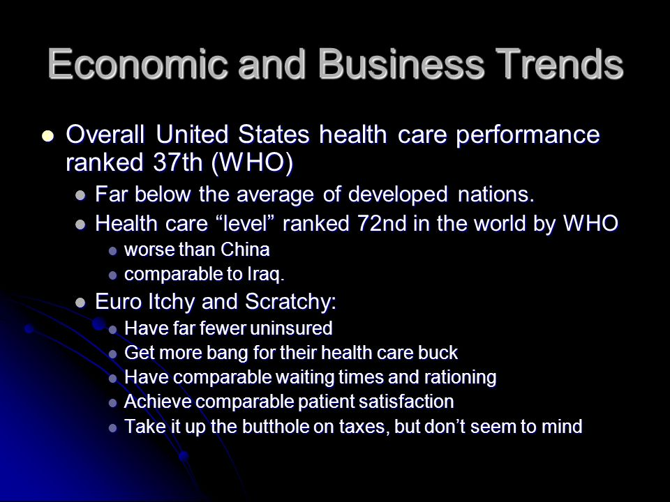 Economic and Business Trends