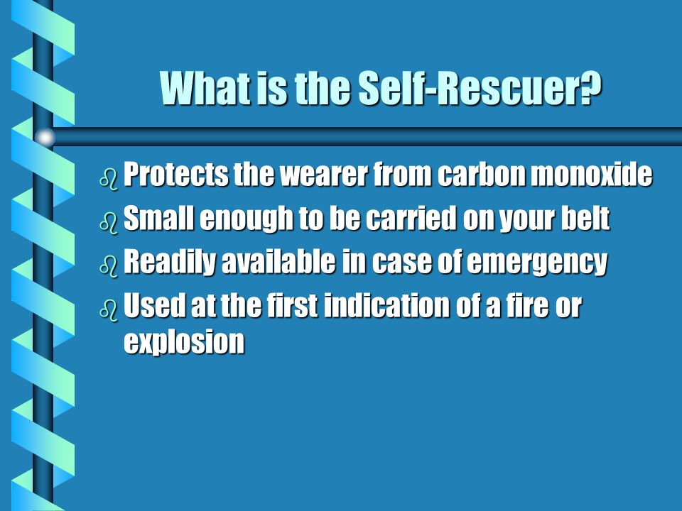 What is the Self-Rescuer