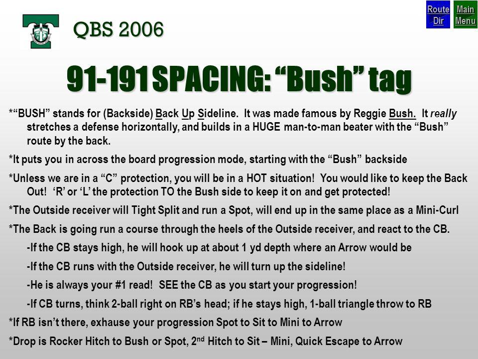 91-191 SPACING: Bush tag QBS 2006