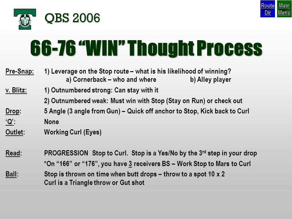 66-76 WIN Thought Process