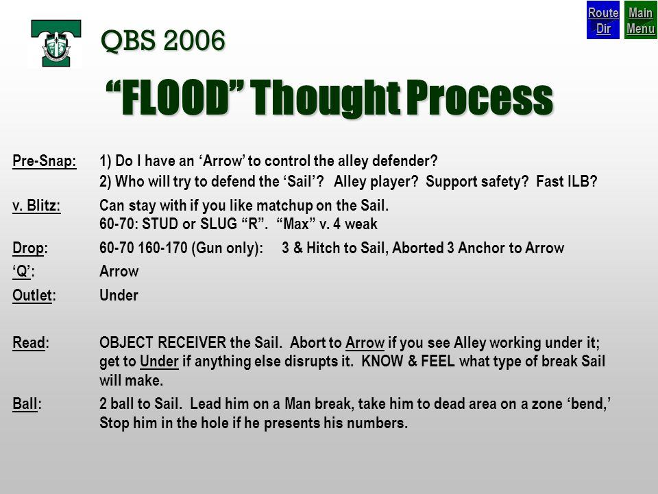 FLOOD Thought Process