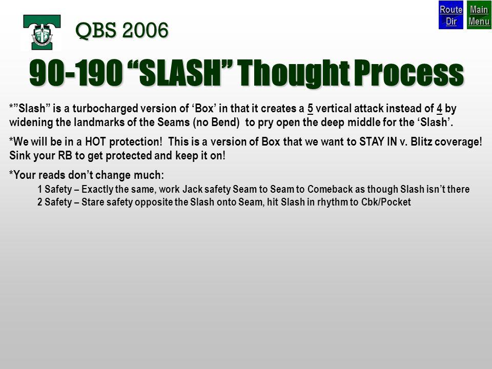 90-190 SLASH Thought Process