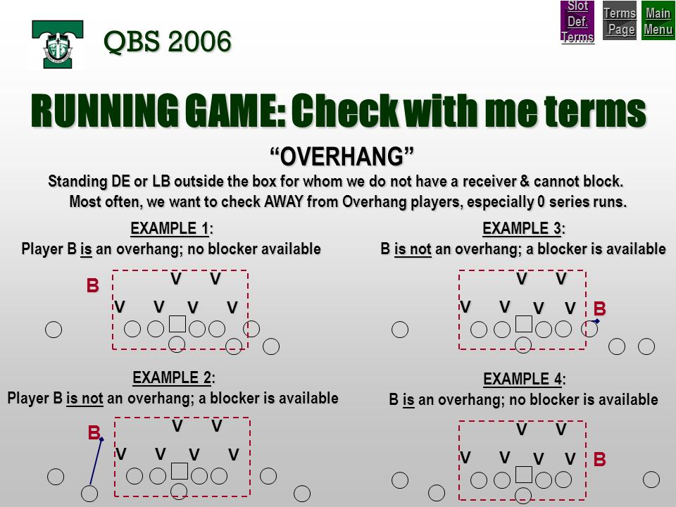 RUNNING GAME: Check with me terms