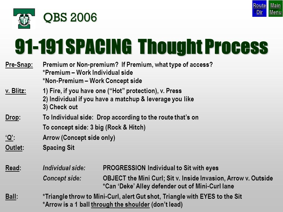 91-191 SPACING Thought Process