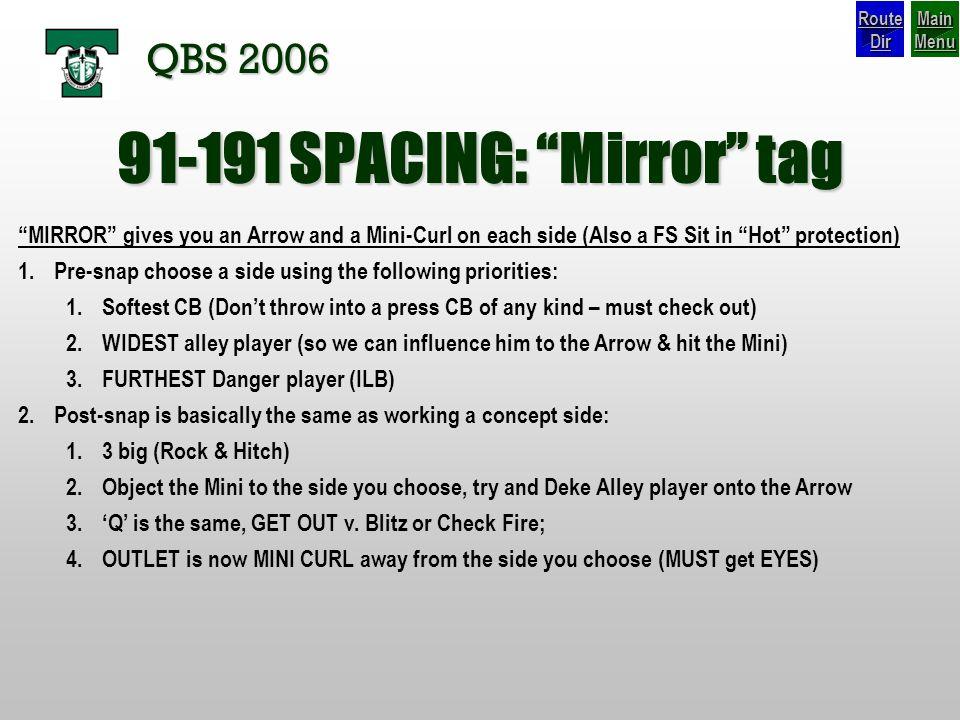 91-191 SPACING: Mirror tag