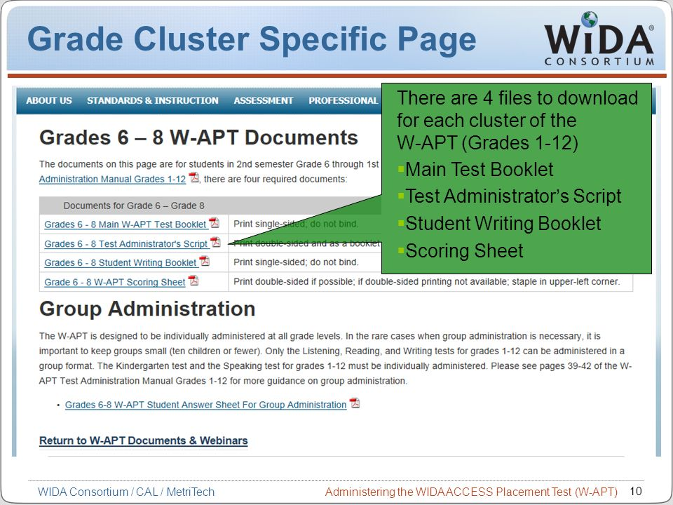 Grade Cluster Specific Page
