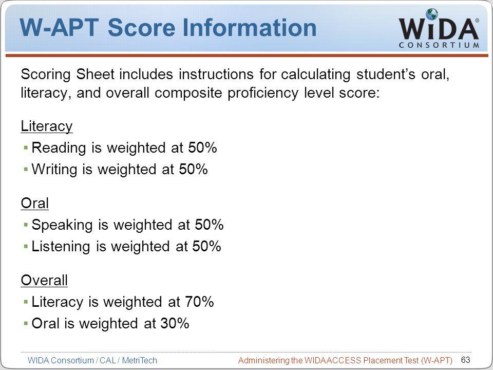 W-APT Score Information