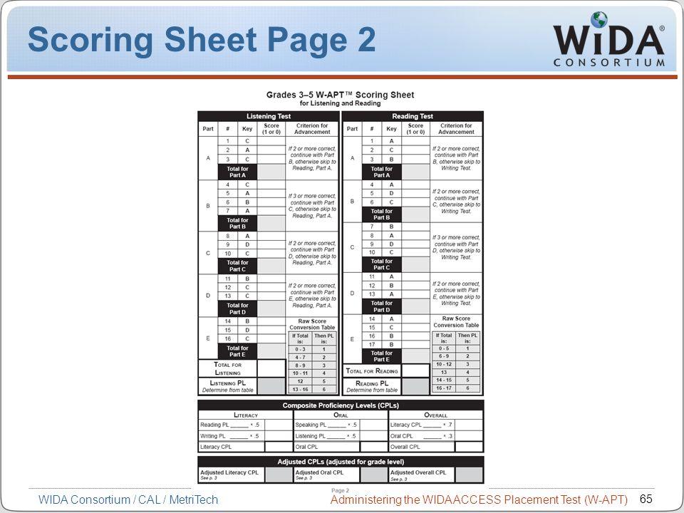 Scoring Sheet Page 2