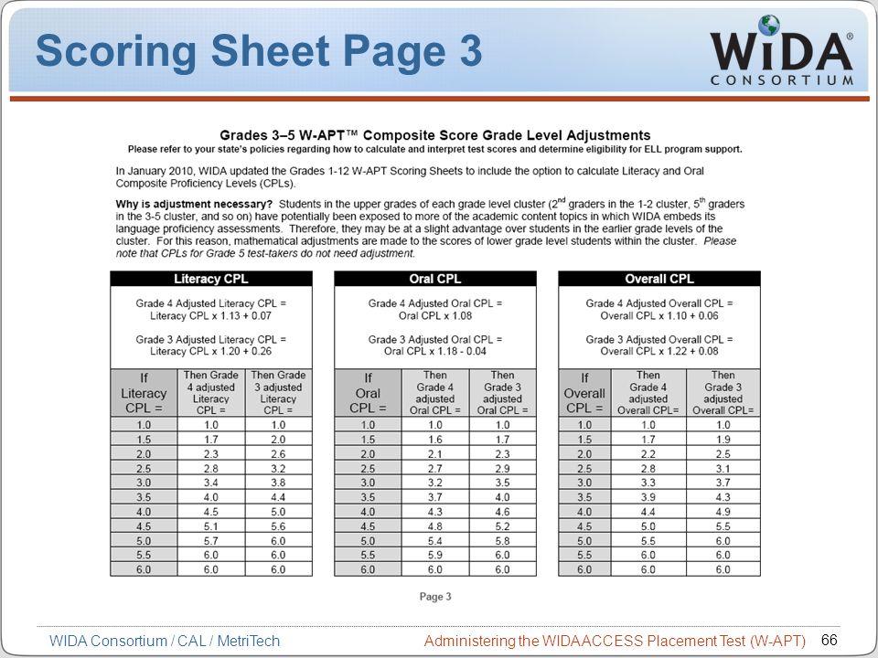Scoring Sheet Page 3