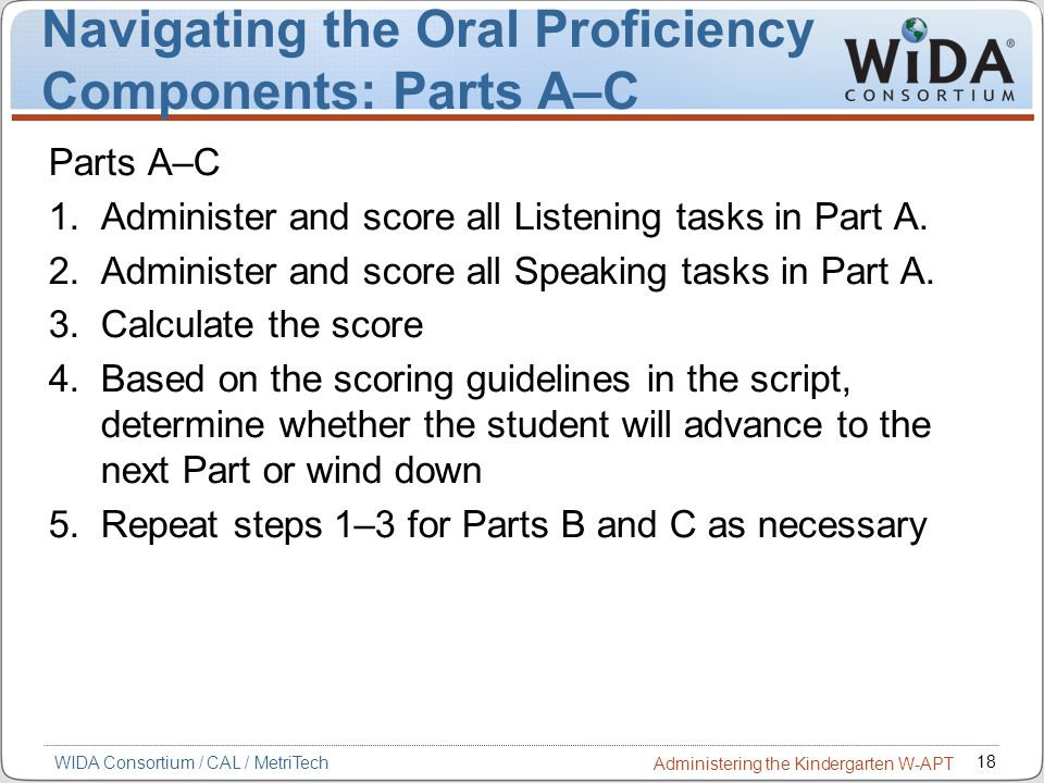 Navigating the Oral Proficiency Components: Parts A–C