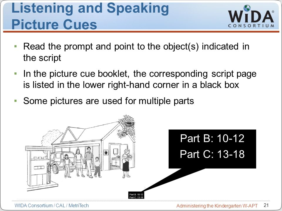 Listening and Speaking Picture Cues