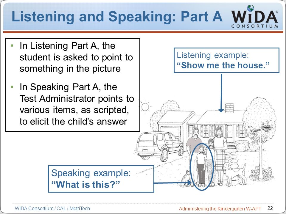 Listening and Speaking: Part A