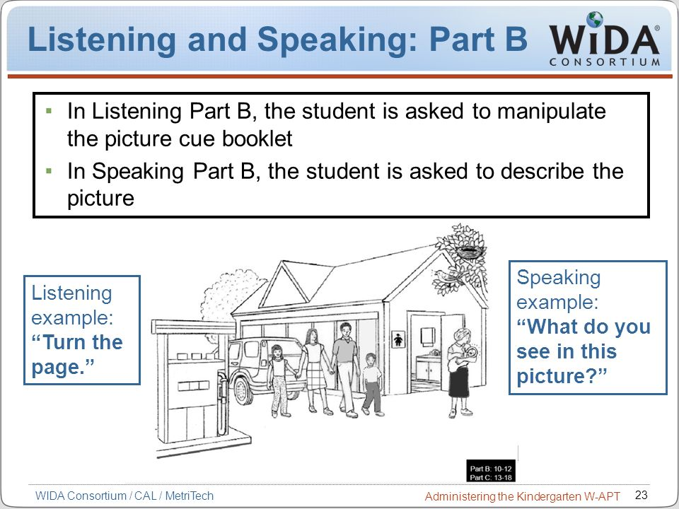 Listening and Speaking: Part B