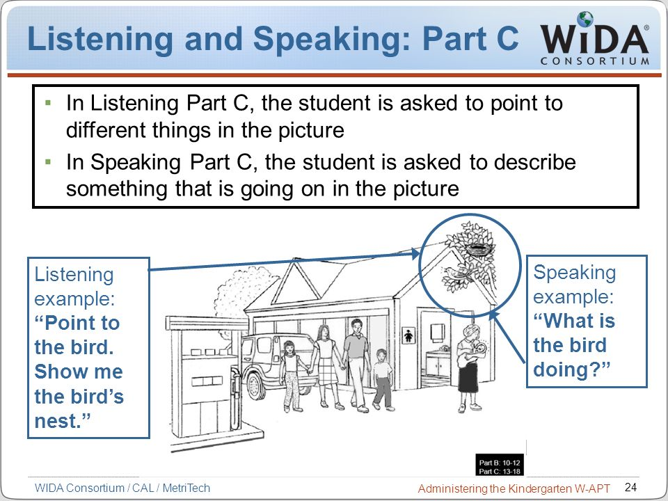 Listening and Speaking: Part C