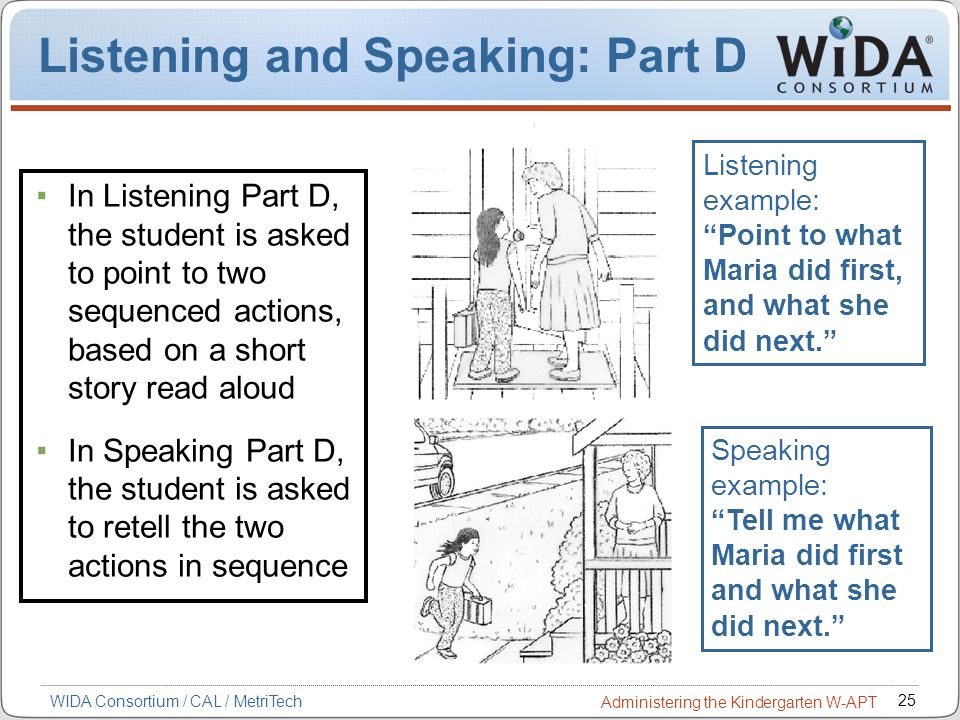 Listening and Speaking: Part D