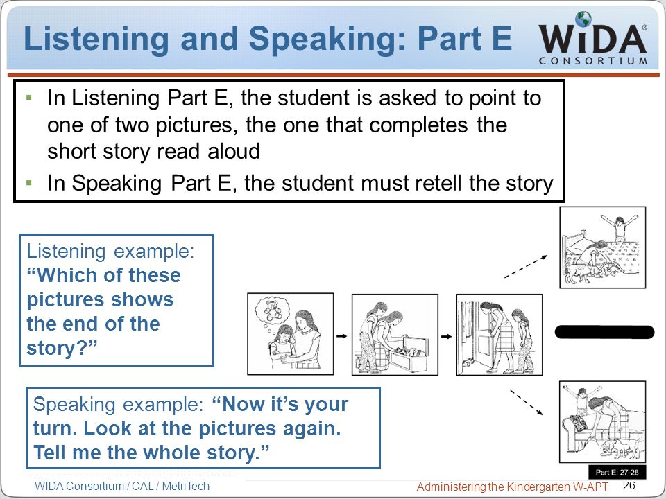Listening and Speaking: Part E