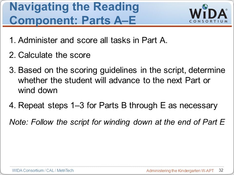 Navigating the Reading Component: Parts A–E