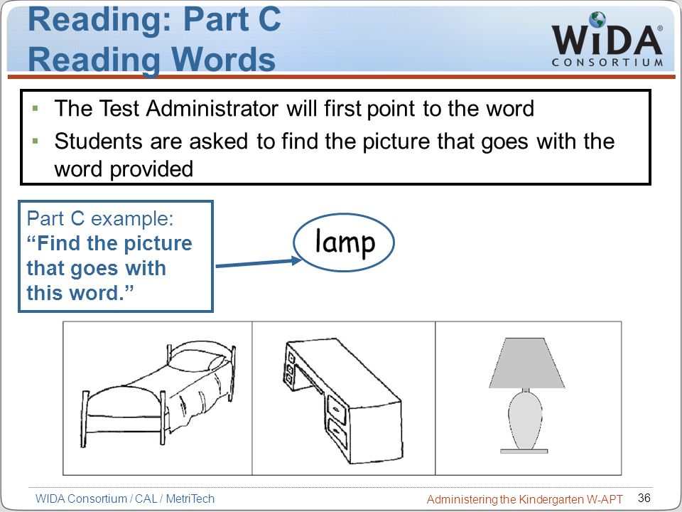Reading: Part C Reading Words
