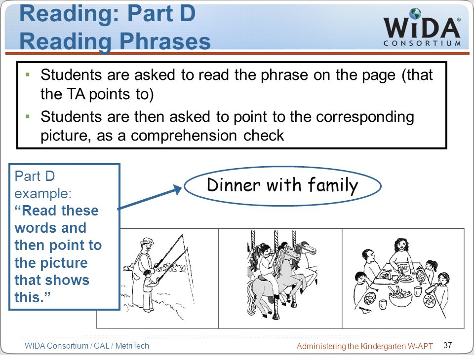 Reading: Part D Reading Phrases