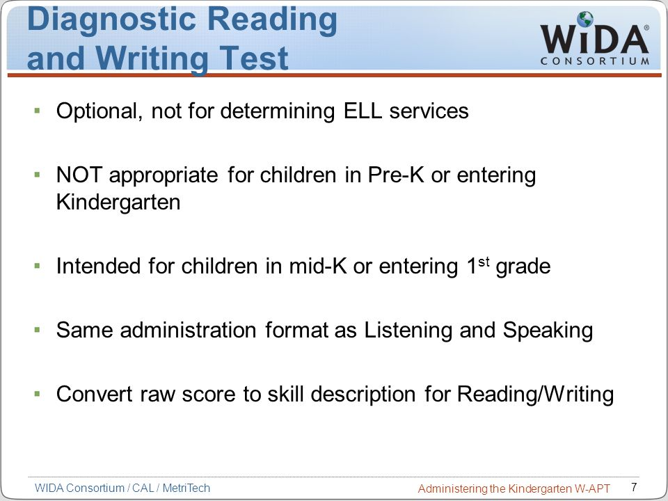 Assessment of Reading Comprehension