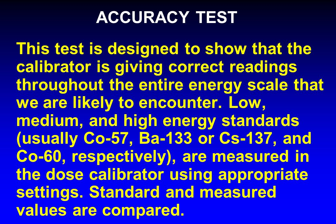 ACCURACY TEST