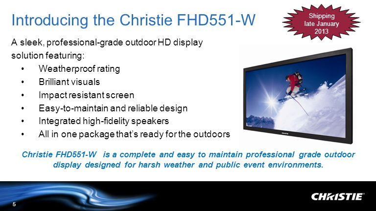 Introducing the Christie FHD551-W