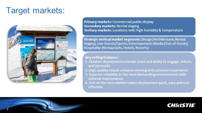Target markets: Target markets