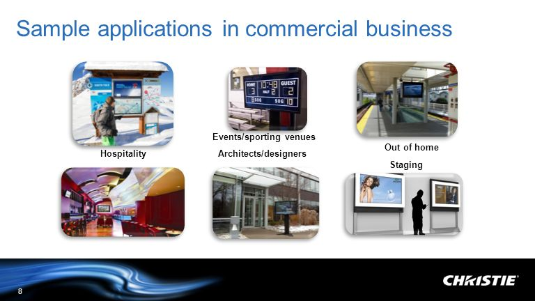 Sample applications in commercial business