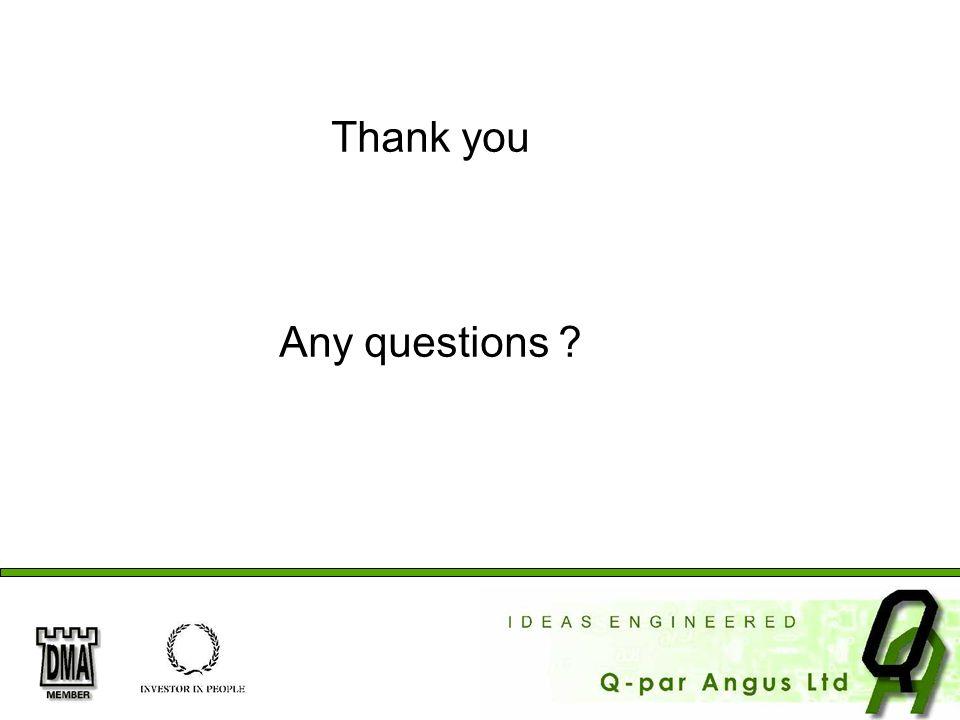 Thank you Any questions Thank you. Any questions