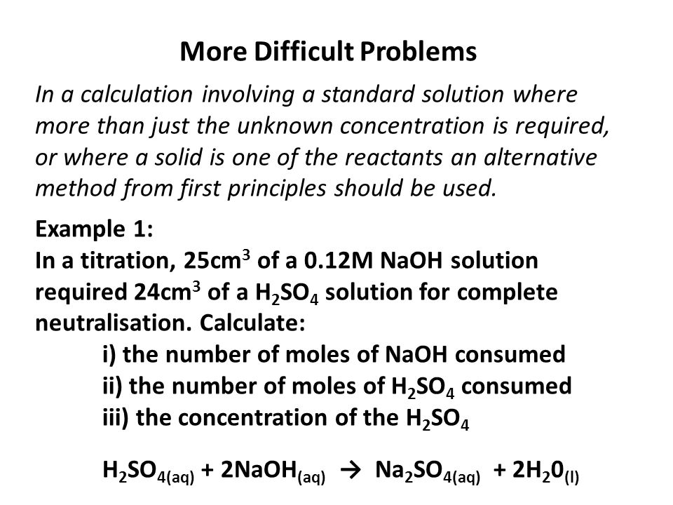 More Difficult Problems