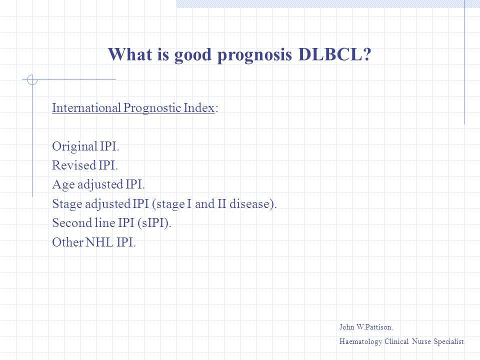 What is good prognosis DLBCL