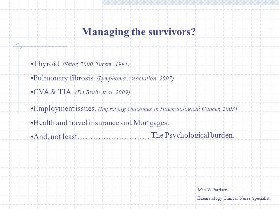 Managing the survivors