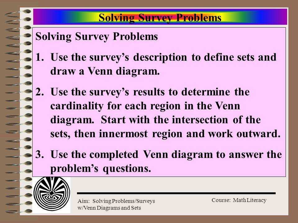 Solving Survey Problems
