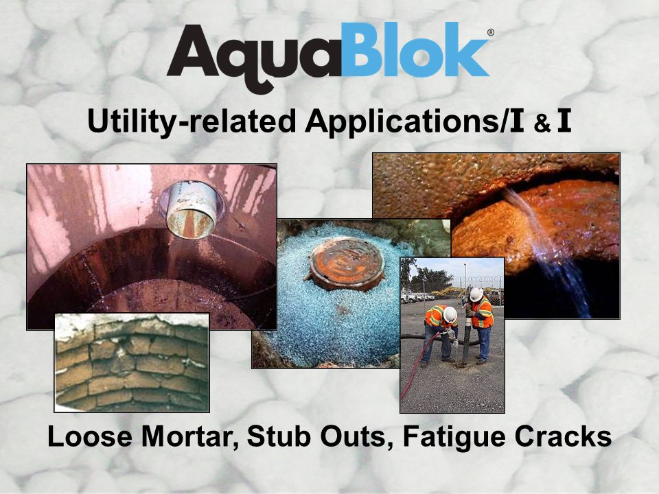 I&I Manhole Utility-related Applications/I & I