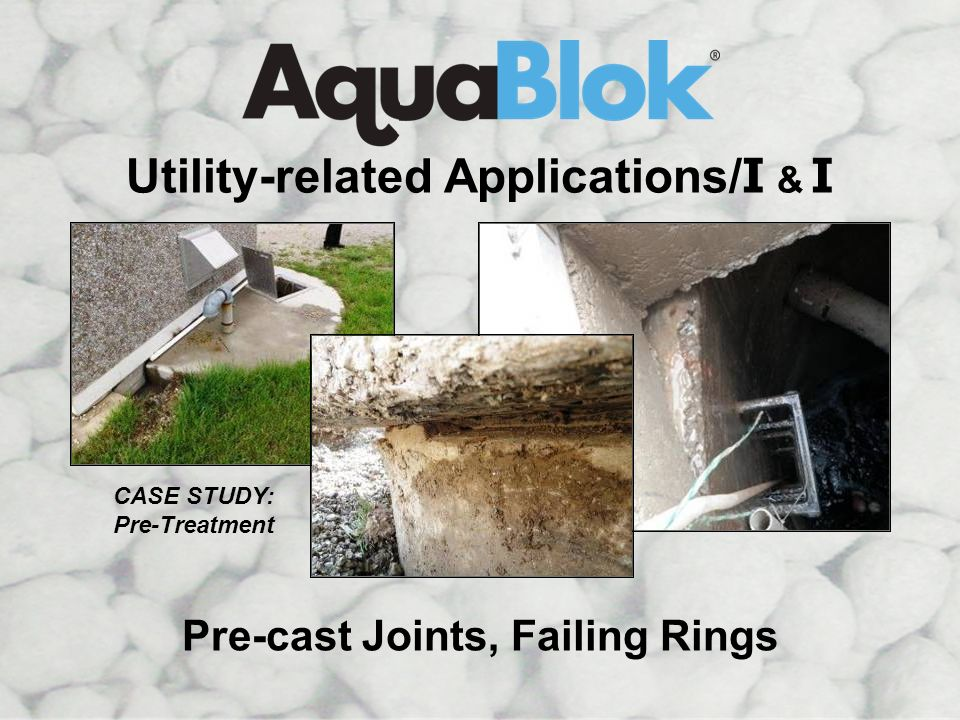 Utility-related Applications/I & I Pre-cast Joints, Failing Rings