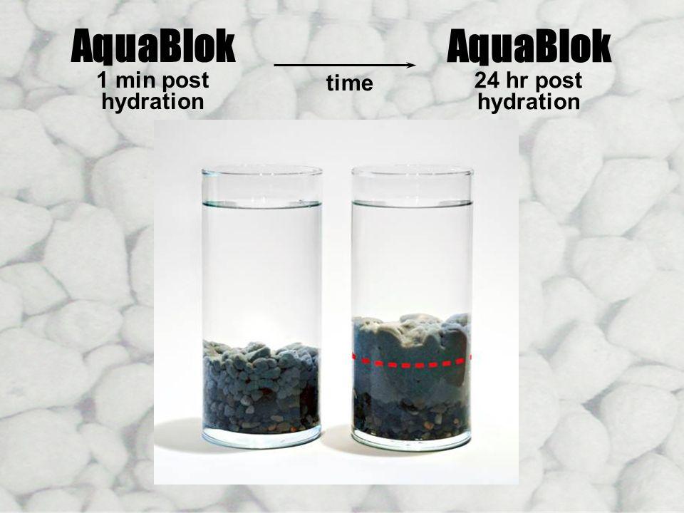 AquaBlok AquaBlok Hydration Time Lapse 1 min post 24 hr post hydration