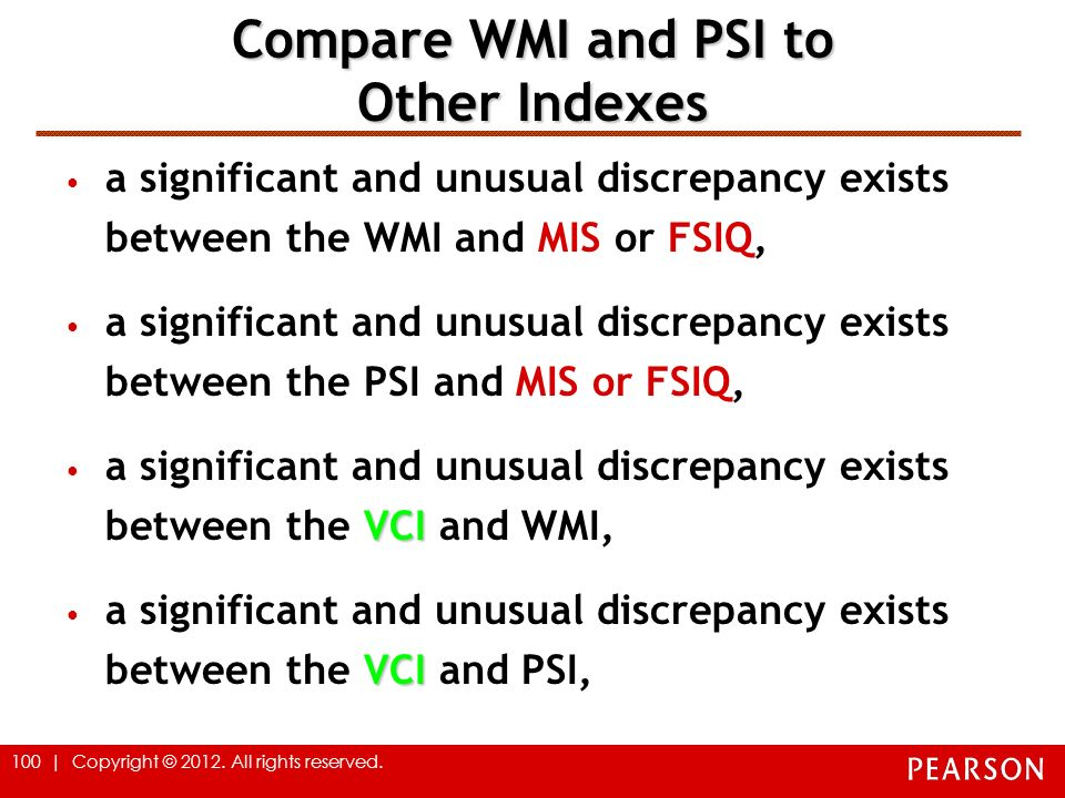 Compare WMI and PSI to Other Indexes