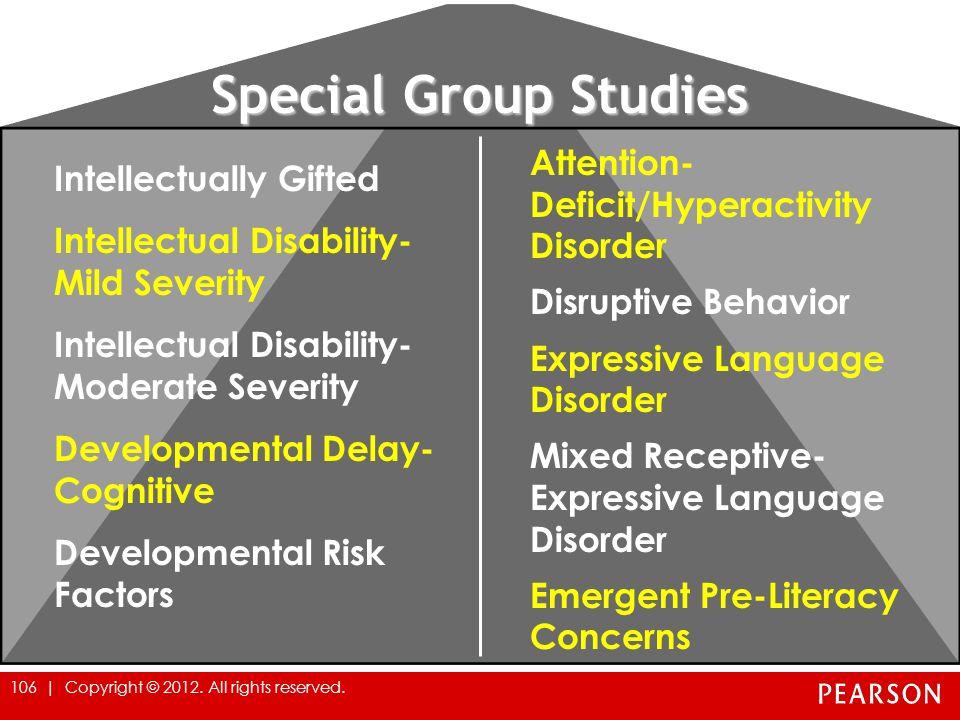 Special Group Studies
