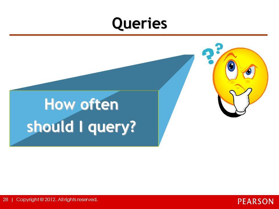 Queries How often should I query