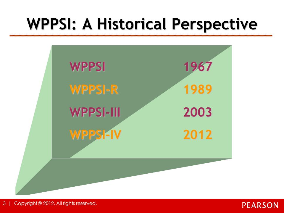 WPPSI: A Historical Perspective