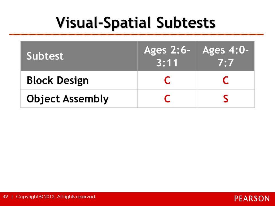Visual-Spatial Subtests