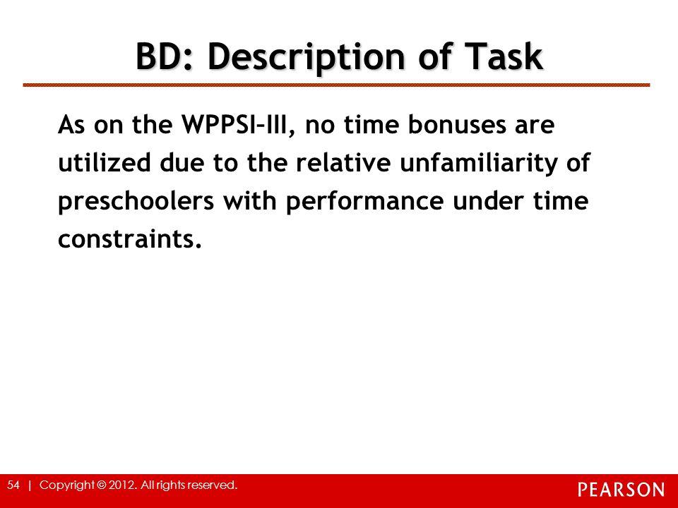 BD: Description of Task