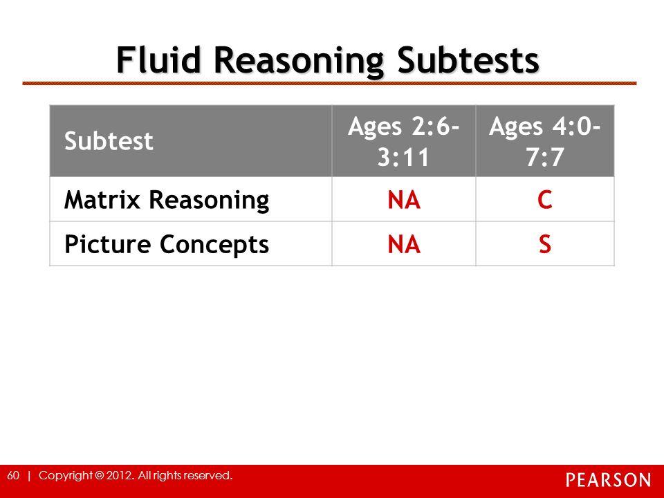 Fluid Reasoning Subtests