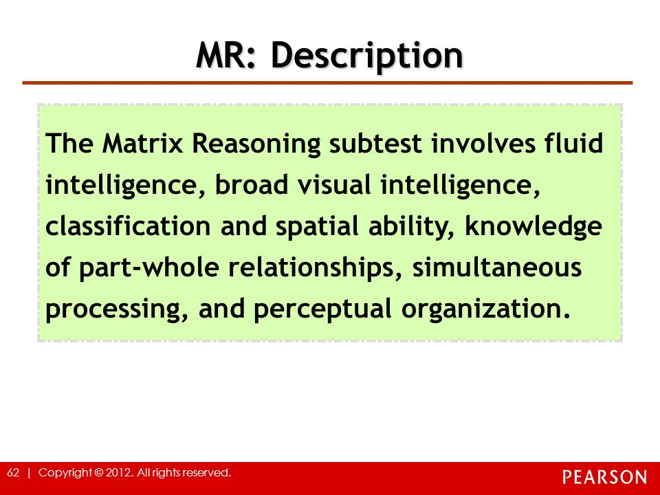 MR: Description