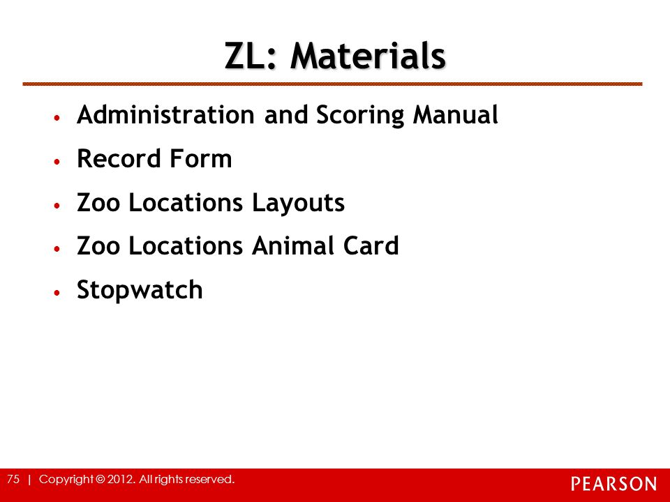 ZL: Materials Administration and Scoring Manual Record Form