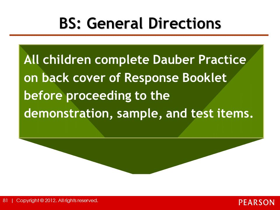 BS: General Directions