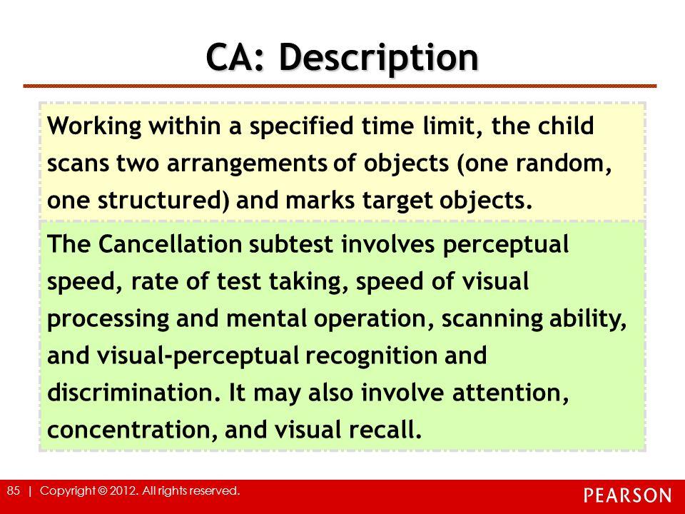 CA: Description