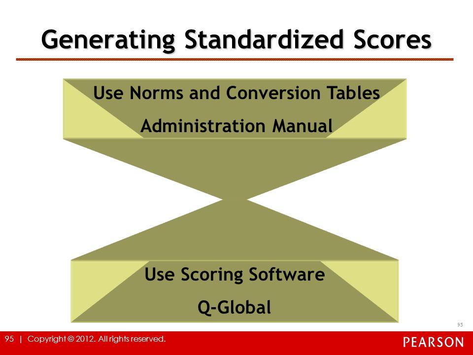 Generating Standardized Scores